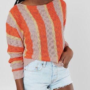 Striped Dolman Sweater Daytrip Buckle Small